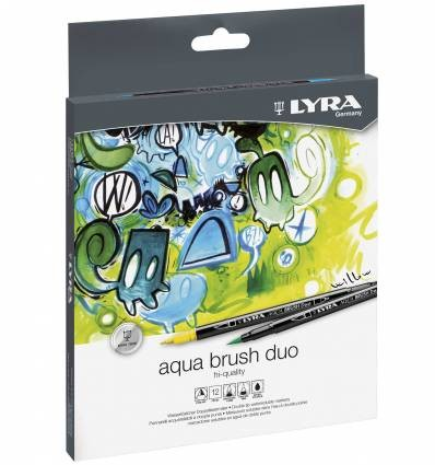Set 12 Rotuladores Acuarelables LYRA AQUA BRUSH DUO