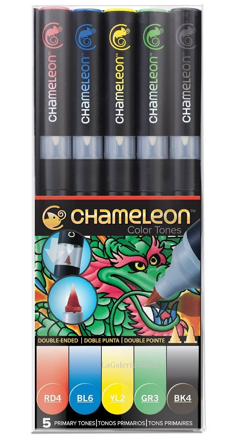 Set 5 Rotuladores Chameleon Tonos Primarios