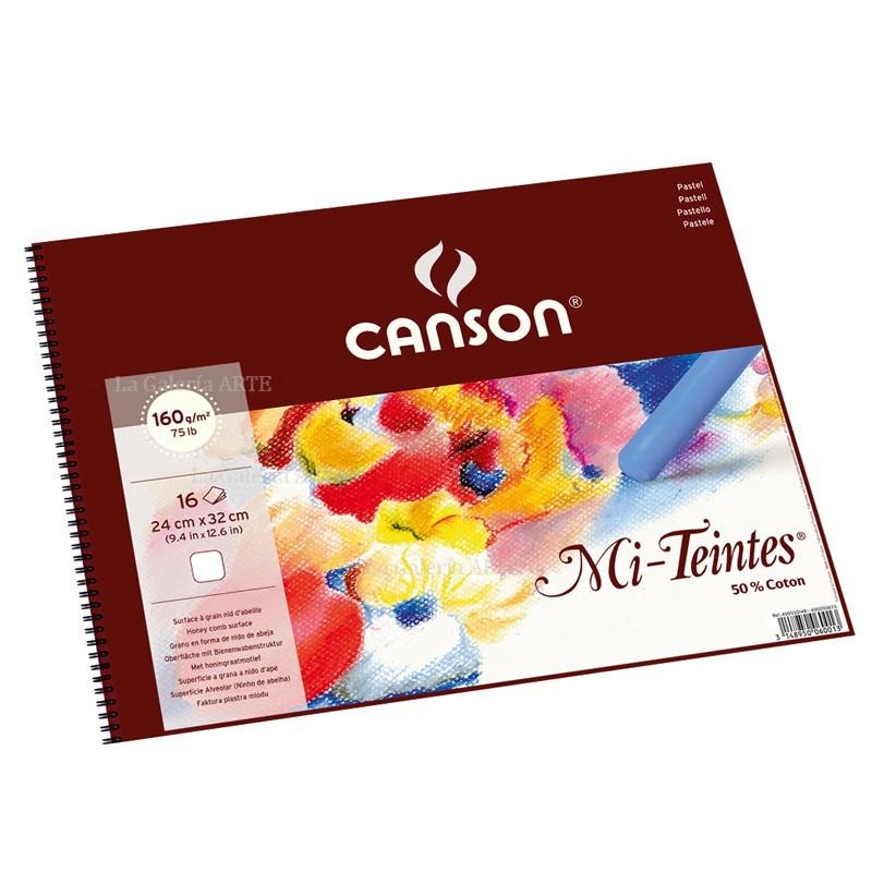 Bloc Pastel CANSON 16 Hojas Color Blanco 160g 32x41cm