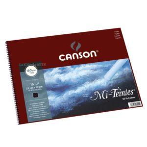 Bloc Pastel CANSON 16 Hojas Color Negro 160g 24x32cm