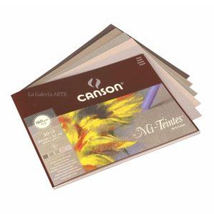 Bloc Pastel CANSON 30 Hojas Colores Grises 160g 24x32cm