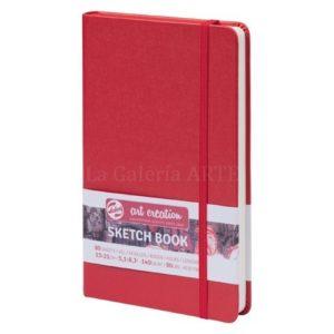 Bloc Cosido Rojo ArtCreation 12x12 cm 140g 80 hojas