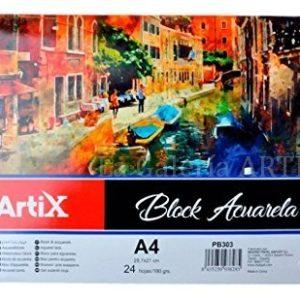 Bloc Acuarela Artix A4 24 Hojas 180g