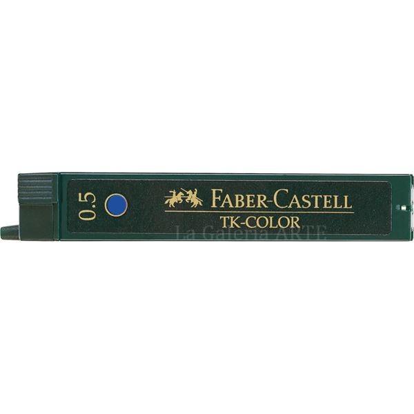 Estuche 12 Minas 0,5mm TK Color Azul Faber-Castell