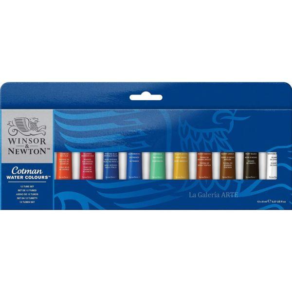 Set Acuarela WINSOR & NEWTON Cotman 12 tubos de 8ml