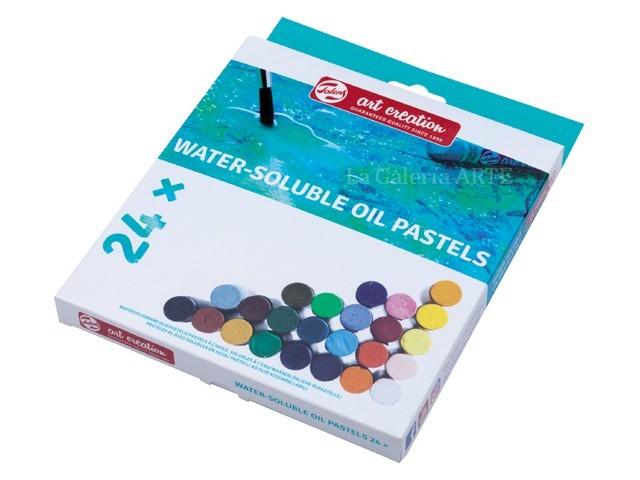 Set 24 Pasteles al Oleo Solubles en Agua Art Creation
