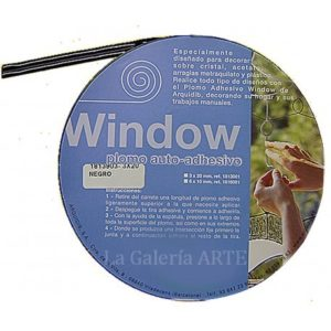 Plomo Auto- Adhesivo 3mm x 20metros Window Negro