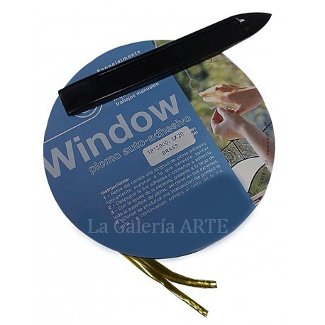 Plomo Auto- Adhesivo 3mm x 20metros Window ORO