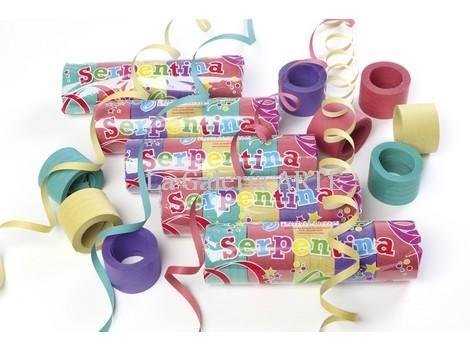 Serpentina Papel 5 paquetes de 25 rollitos