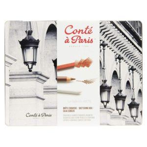 Estuche Metal Esbozo Lapices y Barras Conte 2185