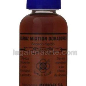Barniz Mixtion para Doradores SECADO LENTO 5 Aros Mongay 125ml