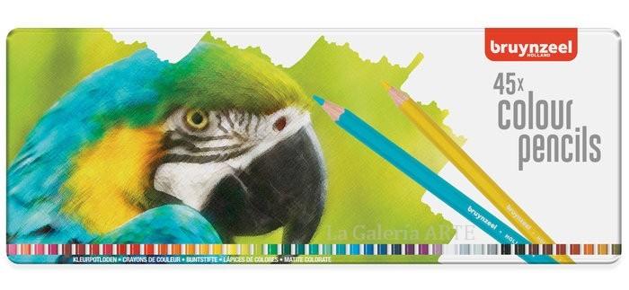 Estuche 45 Colores Bruynzeel Papagayo